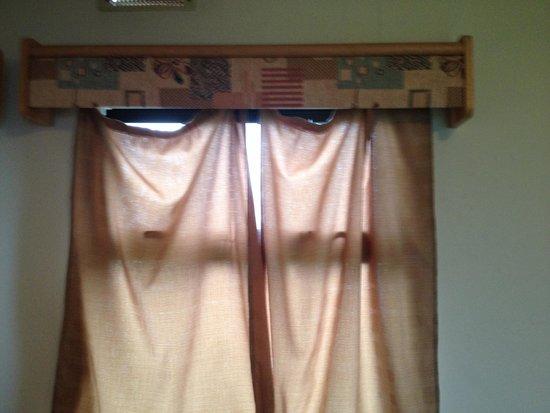 Sandy Bay Holiday Park - Park Resorts: Curtain hanging off