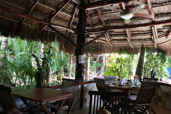 Cocos Cabanas : From the dining area