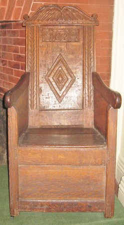 Dedham Historical Society: Oldest dated chair made in America 1652