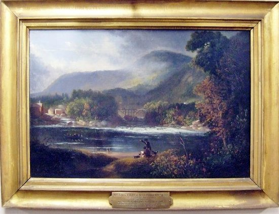 "Dedham Historical Society: ""Bellows Falls"" by Alvin Fisher"