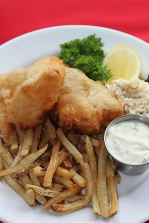 Le Bistro By Liz: Fresh French beer battered Haddock and Frites
