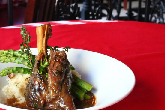 Le Bistro By Liz: Braised Lamb Shank, bone in with mint demi