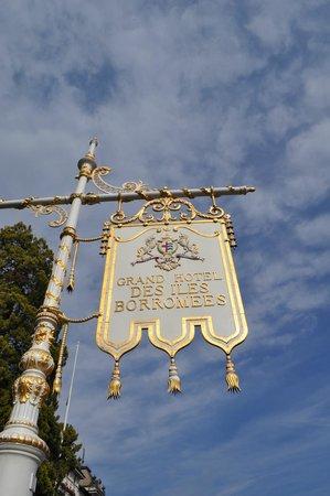 Grand Hotel Des Iles Borromees : sign