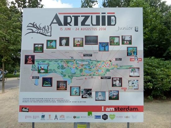 "Vondelpark : the map of ""Art Zuid"": junior"