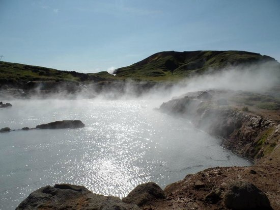 Iceland Activities - Day Tours: Open hot streams on hike