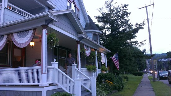 1892 Seneca Inn: Bob on the front porch