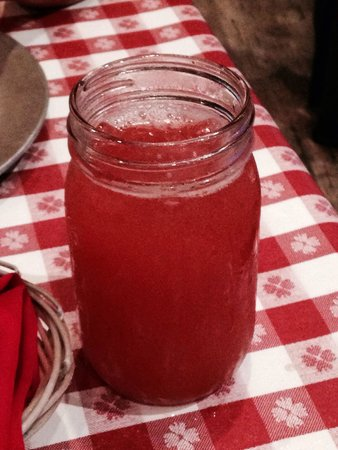 Hatfield & McCoy Dinner Show: Strawberry moonshine drink - pink lightnin' ;-)