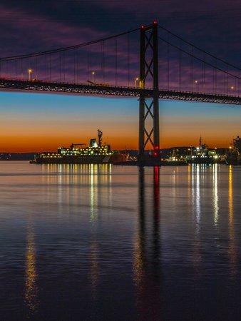 Halifax Waterfront Boardwalk: Under MacKay Bridge