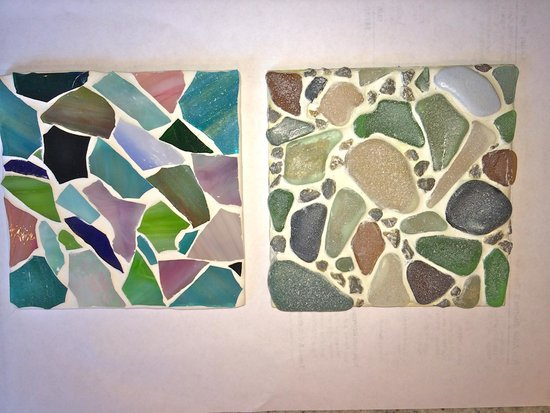 Mosaiccos: Which one do you like better? I like the one on the left. Great movement and color!