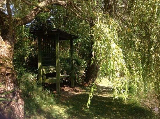 Bennetts Water Gardens: a shady seat