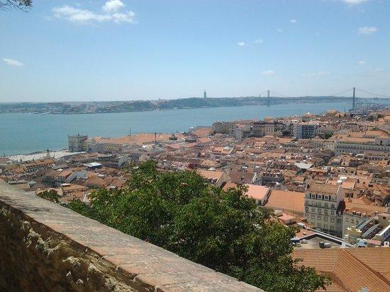 Castillo de San Jorge: vista lato ovest