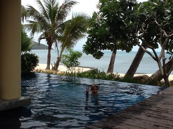 Nora Beach Resort and Spa: titi dans la piscine de la villa