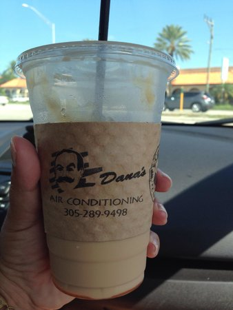 Curly's Coffee Company: Iced caramel latte. The bomb!!!  (Get the 20oz!)