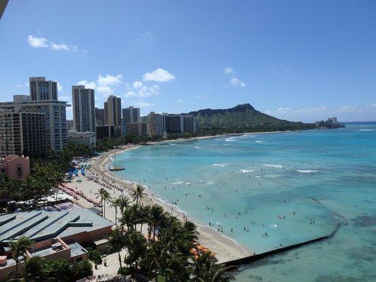 Sheraton Waikiki : ラナイからダイアモンドヘッド