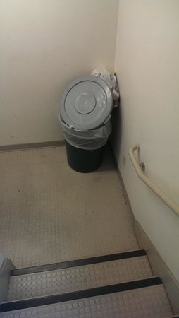 Extended Stay America - St. Louis - Westport - Craig Road: hallway garbage on 3rd floor