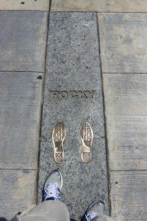 Rocky Statue : Rocky was here