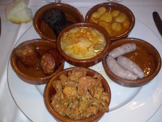 Restaurante Duque: Entrantes típicos segovianos