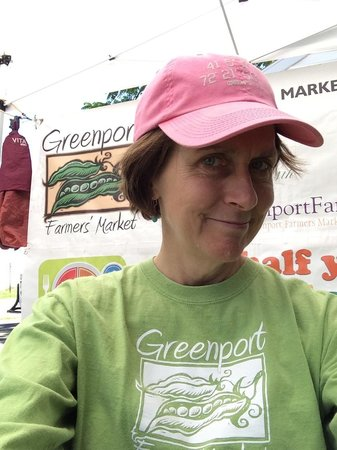 """Greenport Farmers' Market, Inc.: """"Welcome to the Market"""" is the clarion call of volunteer, Joyce Murray Sullivan"""