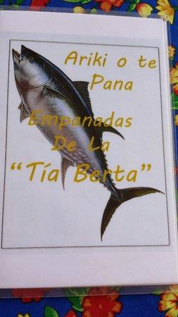 Empanadas Tia Berta: Carta