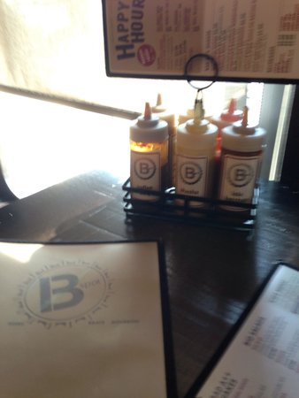 B Spot Burgers : A variety of sauces for the meat selections