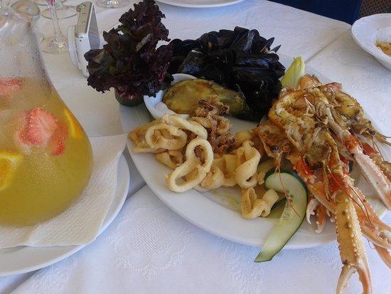 Restaurante Es Forat : primer plato menú caldereta