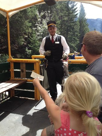 Georgetown Loop Historic Railroad: Ticket taker punches your ticket at halfway point.