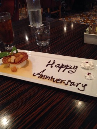 TK's at the Villa Mayfair : Our 'anniversary' flan - yum!!