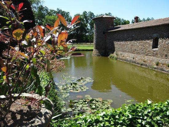Chateau de la Colaissiere : The moats and the stone walls