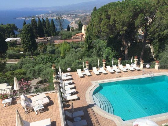 Belmond Grand Hotel Timeo: View from one of two patios room 228