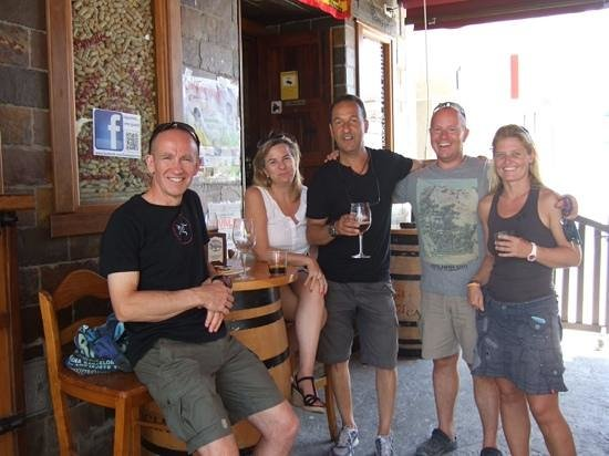 Scuba Tropical: post dive beer and tapas at la bodega Barrica, opposite the dive centre