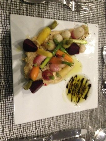 "Quay West Suites Sydney: My ""Vege Patch"" entree at Harringtons Restaurant"
