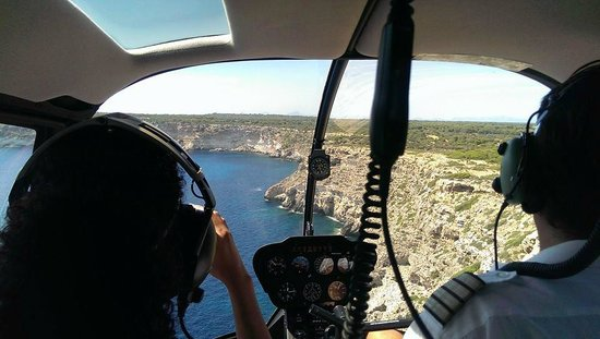 Balearic Helicopters : My wife got the front seat on the ride home.