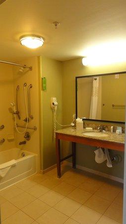 Hampton Inn & Suites Astoria: Accessible bathroom - Shower