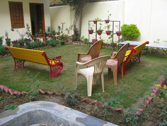 Sweet courtyard garden at Homestay, Varanasi.