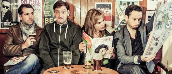 The Suggestibles at The Cumberland Arms : The Suggestibles in The Cumberland Arms bar before the show