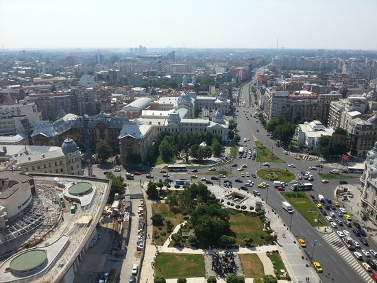 InterContinental Bucharest: a picture from the top of the hotel