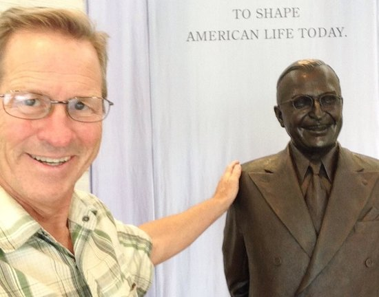 Harry S. Truman Library and Museum: Terry Hunefeld says hello to Harry Truman