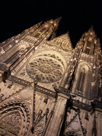 Outside St. Vitus in the Castle District at Night