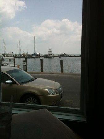Charlotte Plummer's Seafare Restaurant: View from table.
