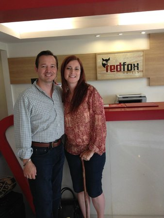 Red Fox Hotel Jaipur: Checking Out at Front Desk