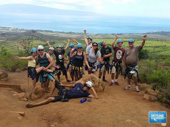 Skyline Eco-Adventures Zipline Tours : Fun group