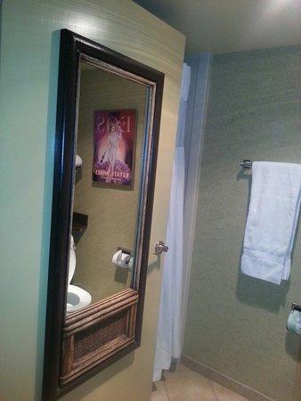 Adelaide Inn: Mirror on door.