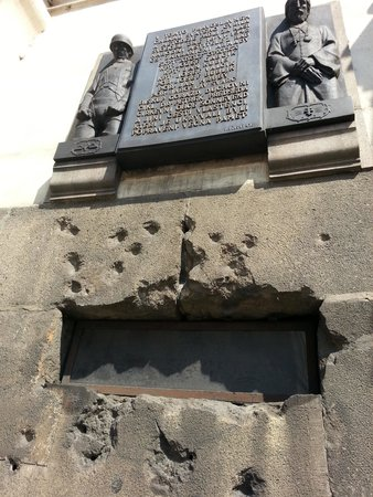 St Cyril and St Methodius Cathedral : Damage from Nazi bullets