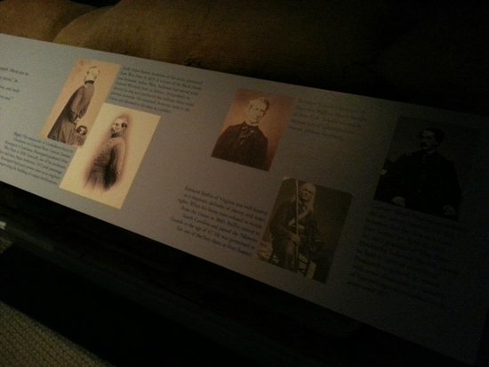 National Civil War Museum: Poor lighting for some exhibits