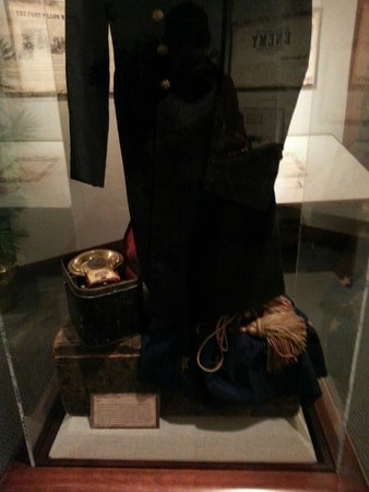 National Civil War Museum: Information at bottom of display case