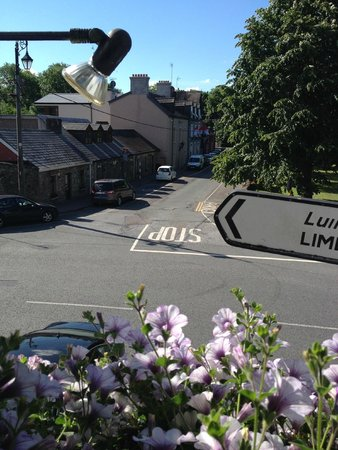 Muskerry Arms: street opposite hotel