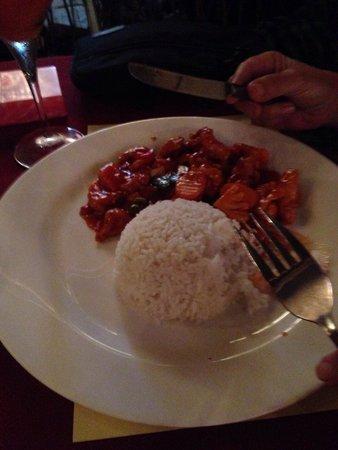Restaurant Puri Bali Indah: Sweet & sour chicken