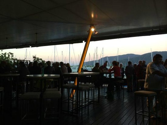 Ba8 Lounge Bar: View from the restaurant/bar