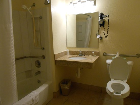 Super 8 Dubuque/Galena Area: Accessible bathroom