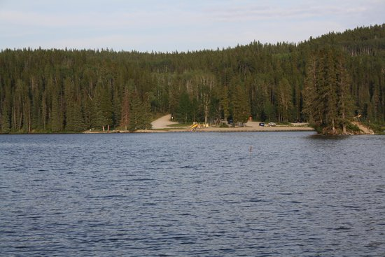 William A. Switzer Provincial Park: park/beach across lake from campground